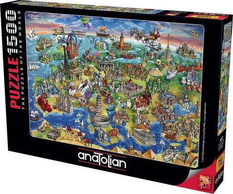 Anatolian-Puzzle 1500  Avrupa Haritası  European World