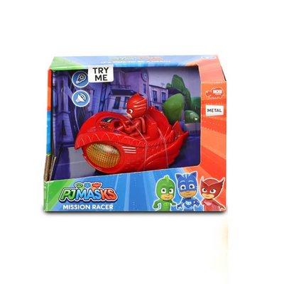 Pj Mask Figür Mission Racer Owlette Sesli - Işıklı 12cm. 1-43 Kırmızı