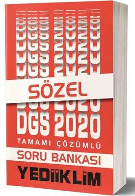 Yediiklim 2020 DGS Sözel Bölüm Tamamı Çözümlü Soru Bankası