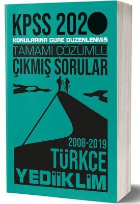 Yediiklim 2020 KPSS Genel Yetenek Türkçe Tamamı Çözümlü Konularına Göre Çıkmış Sorular