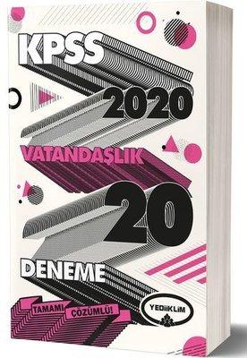 Yediiklim 2020 KPSS Genel Kültür Vatandaşlık Tamamı Çözümlü 20 Deneme
