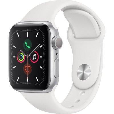 Apple Watch Seri 5 GPS, 40mm Gümüş Alüminyum Kasa ve Beyaz Spor Kordon MWV62TU/A