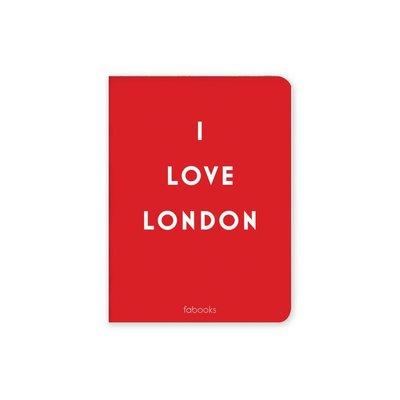 Fabooks I Love London 10.4x14 Çizgili Defter