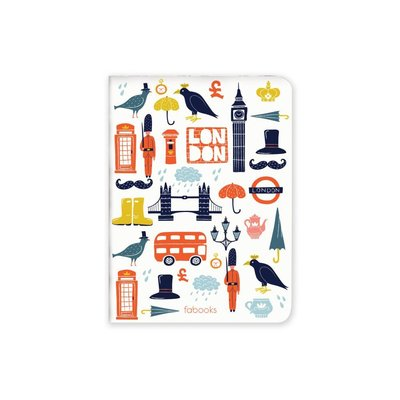 Fabooks Icons Of London 10.4x14 Çizgisiz Defter
