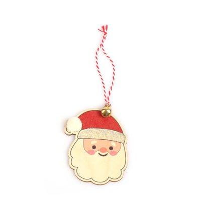 Pan Dizayn Ahşap Ağaç Süsü Noel Baba