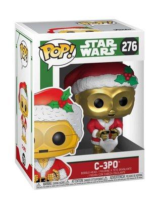 Funko Fgr-POP Star Wars, Holiday Santa C-3PO (exc)