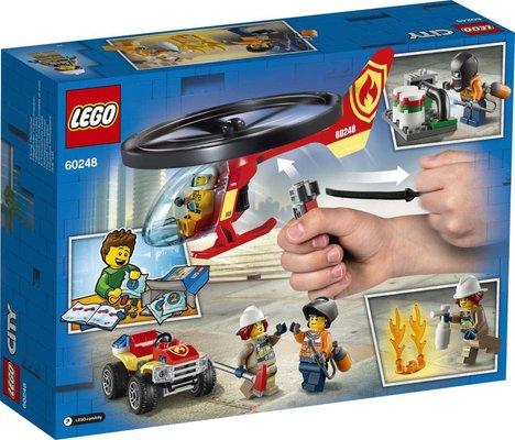 Lego City 60248 İtfaiye Helikopteri Müdahalesi Yapım Seti