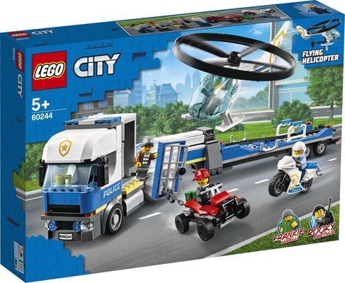Lego City 60244 Polis Helikopteri Nakliyesi Yapım Seti