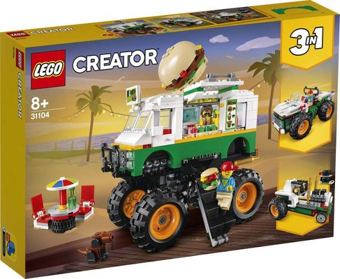 Lego Creator 3ü 1 Arada Canavar Hamburger Kamyonu 31104