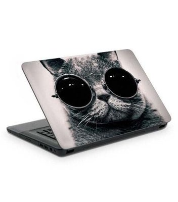 Artikel Gözlüklü Kedi Notebook Sticker
