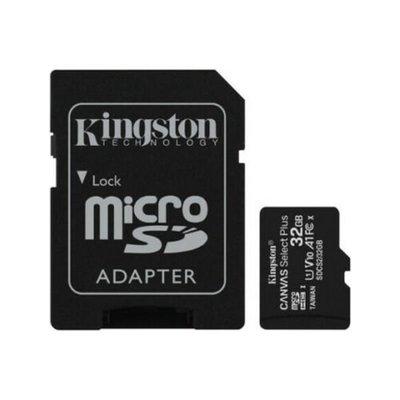 Kingston 32GB microSDHC Canvas Select Plus 100R A1 C10 Card + Adapter SDCS2/32GB