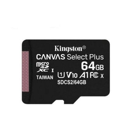 Kingston microSDXC Canvas Select Plus 64 GB 100R A1 C10 Card ve Adaptör