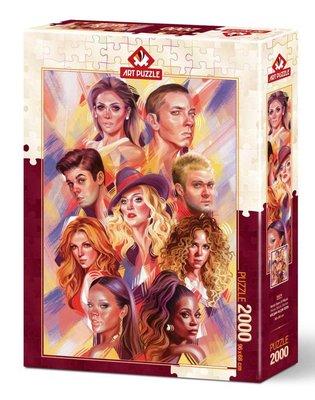 Art Puzzle 2000 Parça Dünya Müzik Starları 5474
