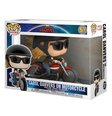 Funko Figür POP Deluxe Captain Marvel on Motorcycle