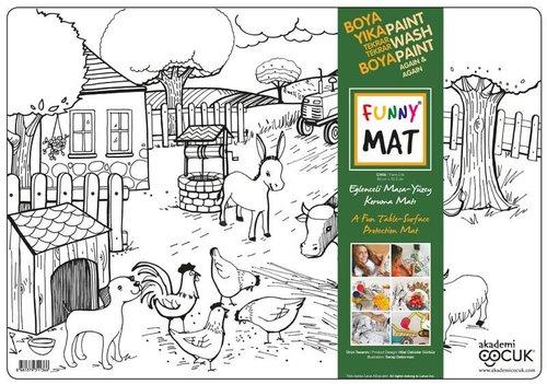Akademi Çocuk Funny Mat - Çiftlik