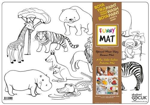 Akademi Çocuk Funny Mat – Vahşi Hayvanlar