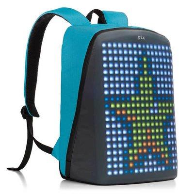 Pix Led Ekranlı Akıllı Sırt Çantası - Mavi