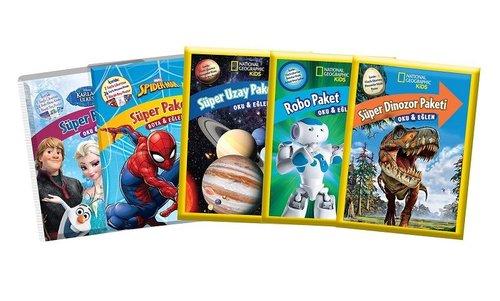 Süper Paket Boya Eğlen Seti-5 Kitap Takım