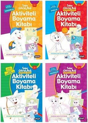 Aktiviteli Boyama Kitapları Seti-4 Kitap Takım