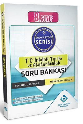 8.Sınıf T.C. İnkılap Tarihi ve Atatürkçülük Soru Bankası-İnovasyon Serisi