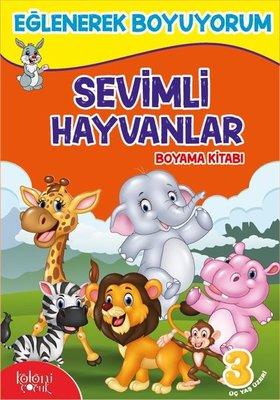 Sevimli Hayvanlar Boyama Kitabı-Eğlenerek Boyuyorum