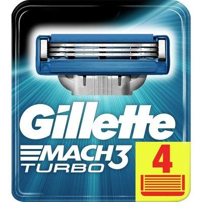 Gillette Mach3 Turbo 4'lü Yedek Tıraş Bıçağı