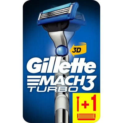 Gillette Mach3 Turbo Tıraş Makinesi 3D