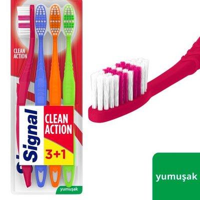 Signal Clean Action 3+1 Diş Fırçası