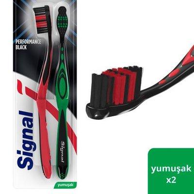 Signal Performans Black 1+1 Diş Fırçası