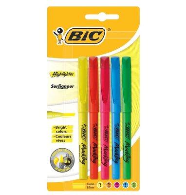 Bic Marking Highlighter 5'Li Blister Karışık