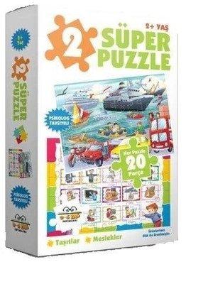 2 Süper Puzzle Taşıtlar-Meslekler 20 Parça