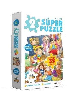 2 Süper Puzzle Pamuk Prenses-Pinokyo 32 Parça