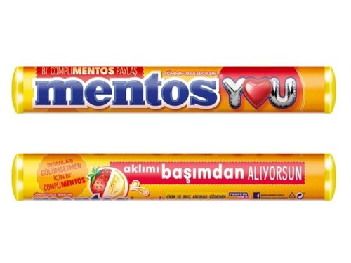 MentosYOU Çilek ve Muz Aromalı Çiğnenen Draje Şekerleme