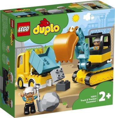 Lego Duplo Kamyon ve Paletli Kazıcı 10931