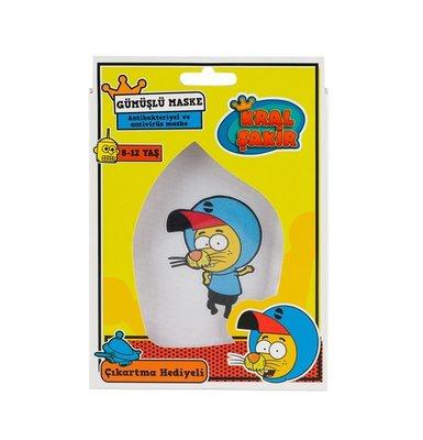 Kral Şakir Çocuk Maske 8 - 12 Yaş Tekli Paket