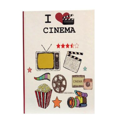 Route21 Defter I Love Cinema Sert Kapak - Düz