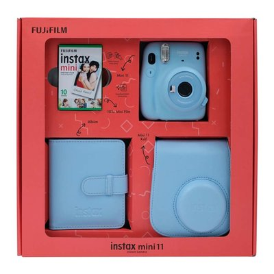 Fuji Instax Mini 11 Sky Blue Bundle Box