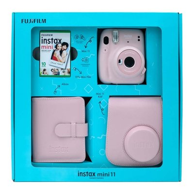Fuji Instax Mini 11 Blush Pink Bundle Box