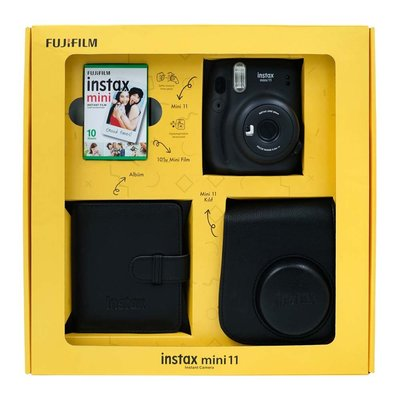 Fuji  Instax Mini 11 Charcoal Gray Bundle Box