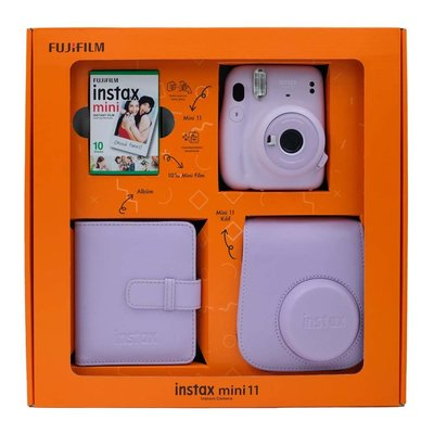 Fuji Instax Mini 11 Lilac Purple Bundle Box