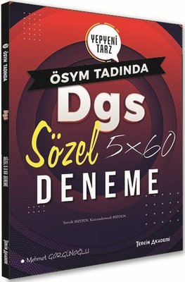 Tercih Akademi DGS Sözel 5x60 Deneme