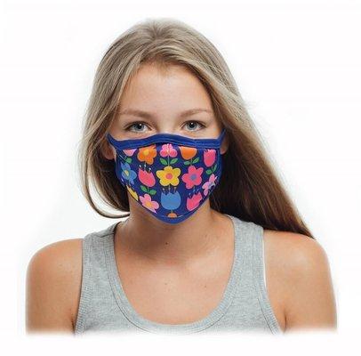 Tissum Flowers  Çocuk Yıkanabilir Filtreli Maske