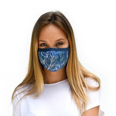 Tissum Blue Leaves Yetişkin Yıkanabilir Filtreli Maske