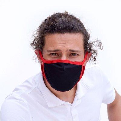 Tissum Red - Black Yetişkin Yıkanabilir Filtreli Maske