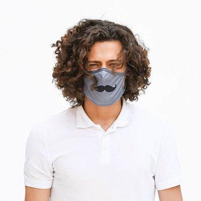 Tissum Moustache Yetişkin Yıkanabilir Filtreli Maske