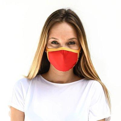 Tissum Red - Yellow Yetişkin Yıkanabilir Filtreli Maske