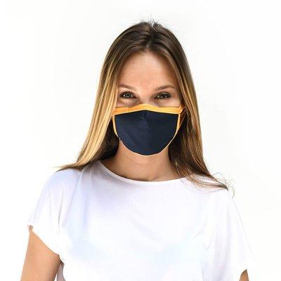 Tissum Yellow - Navy Yetişkin Yıkanabilir Filtreli Maske