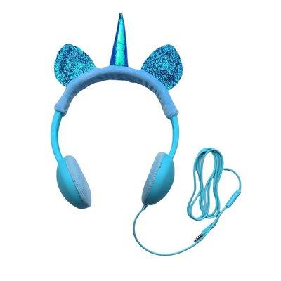 Magic And Funny Unicorn Çocuk Kulaklık Turkuvaz Mavi