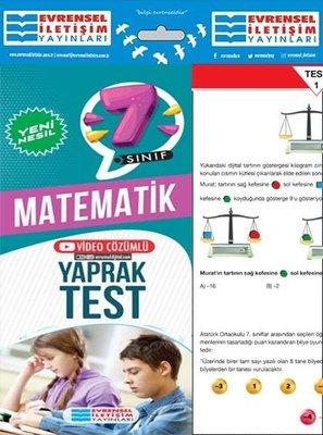 7. Sınıf Matematik Yeni Nesil Yaprak Test