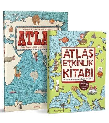 Atlas Set - Kıtalar -Denizler - Kültürler Arası Yolculuk Rehberi - 2 Kitap Takım